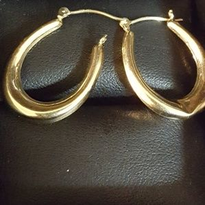 Jewelry - 14k Real Gold Hoops, 1.22grs